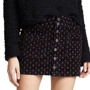NWT FREE PEOPLE Joanie Patterned Corduroy Skirt …
